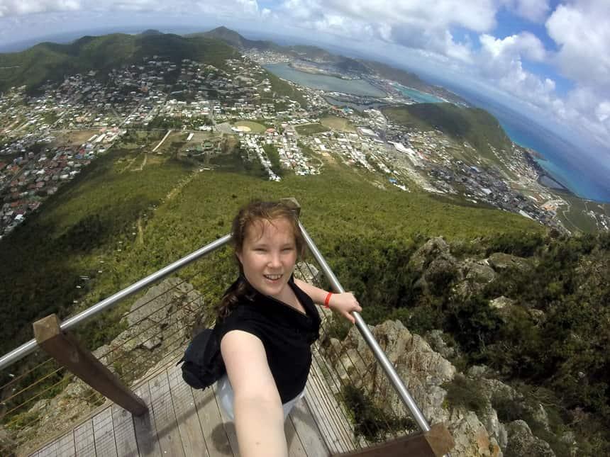 Uitzicht vanaf het Rainforest Adventures Parc