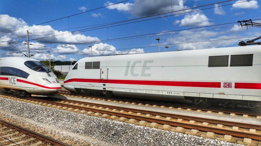De ICE van Deutsche Bahn