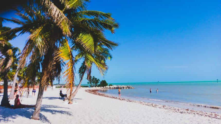 De parelwitte stranden van Key West, Florida
