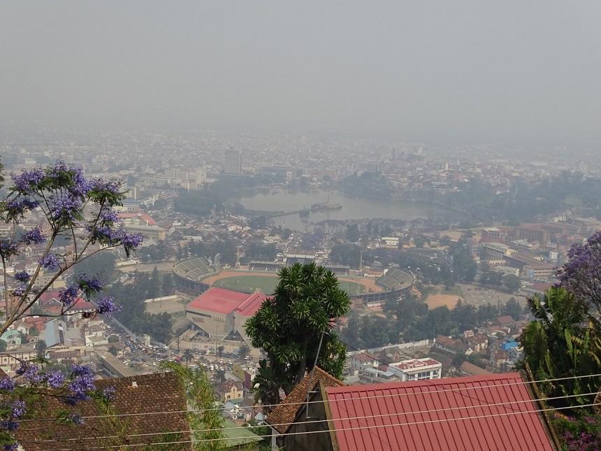 De hoofdstad Antananarivo