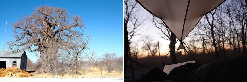 Tent in Gweta, Botswana