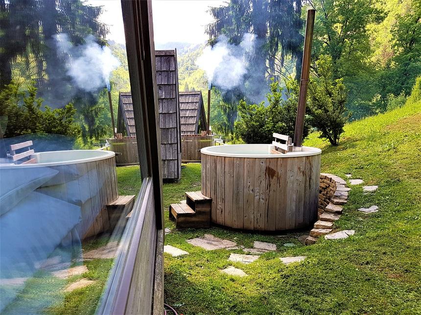 Privé hottub Gozdne Vile in Slovenië