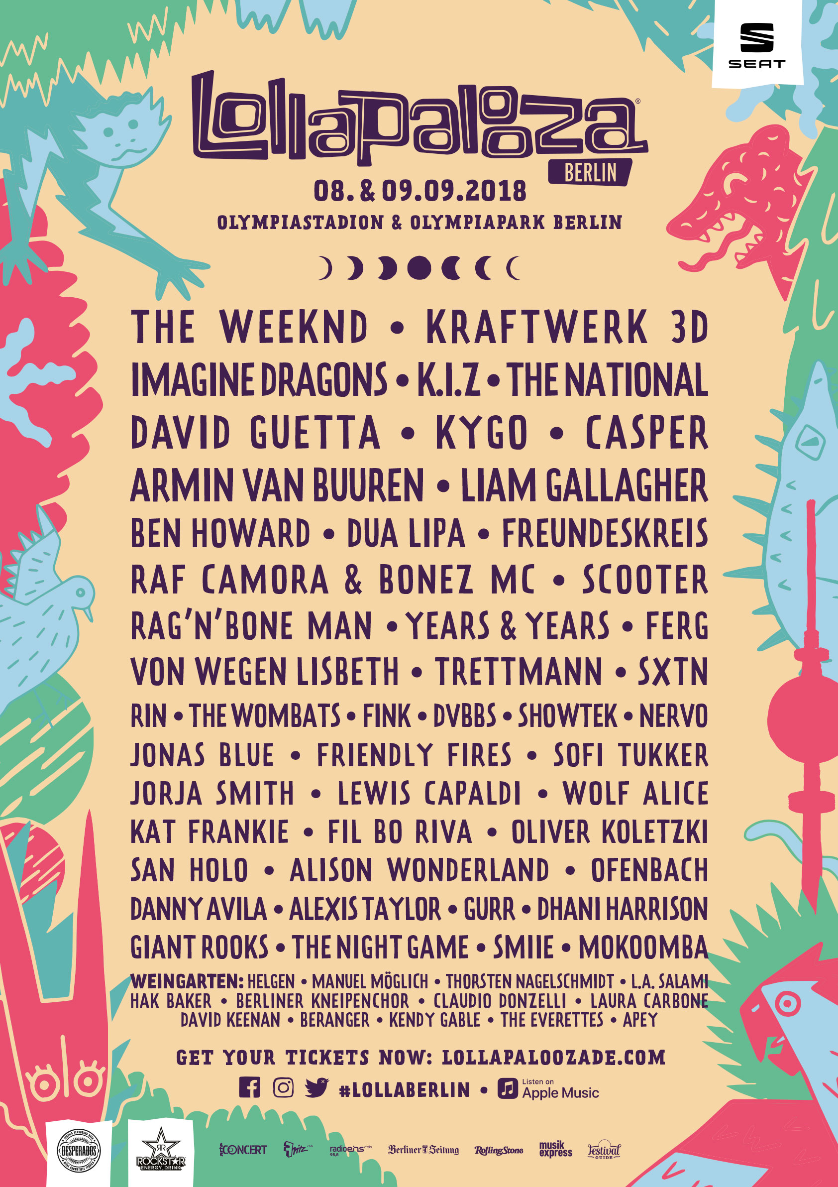Line-up Lollapalooza Berlin 2018