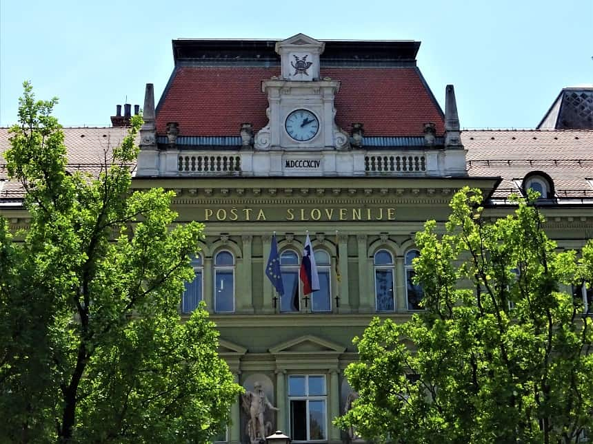 Pošta Slovenije - Het postkantoor van Maribor valt onder het Sloveense culturele erfgoed
