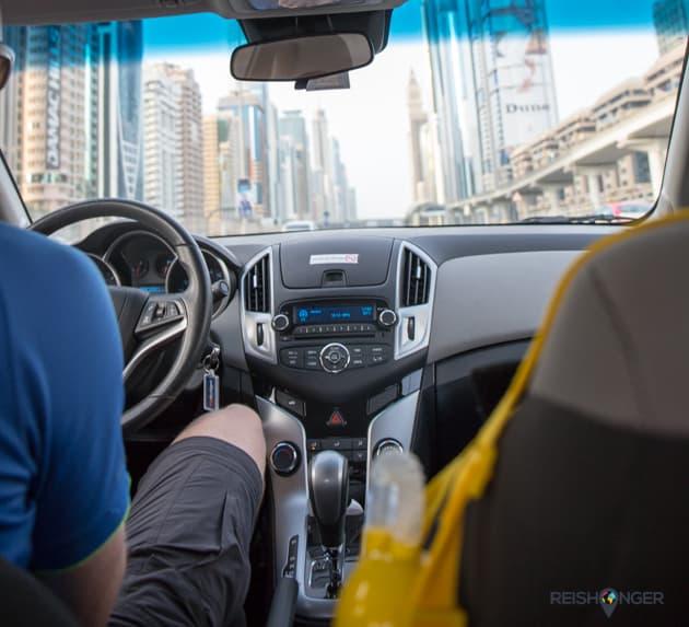 Filerijden met een view in Dubai