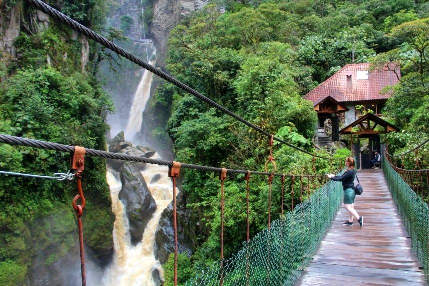 Baños: relaxt reizigersstadje middenin de bergen van Ecuador. Fiets een route langs diverse watervallen