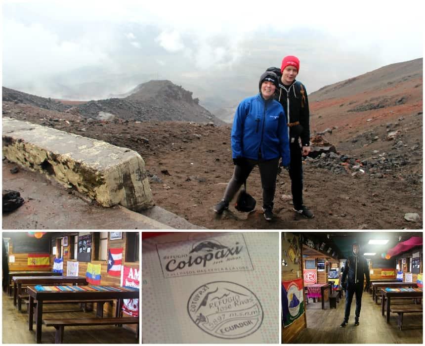 De klim naar de berghut in Cotopaxi nationaal park is zwaar, maar het uitzicht is mooi