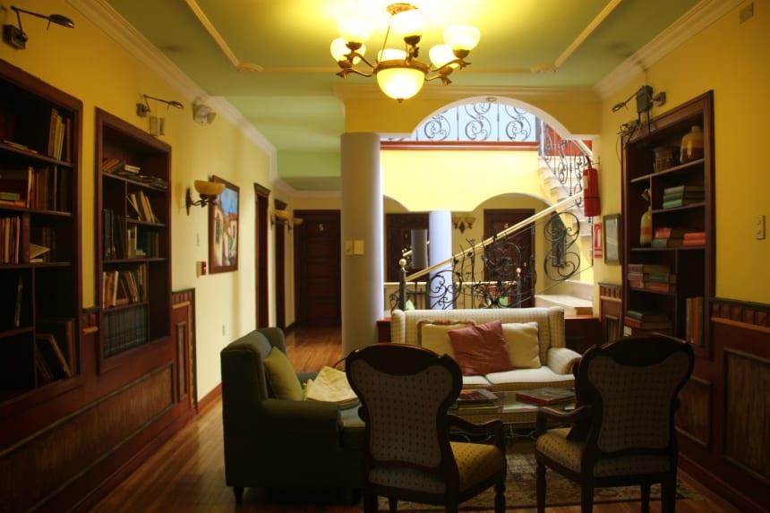 Hotel Casa Aliso was onze uitvalsbasis in Quito, de hoofdstad van Ecuador