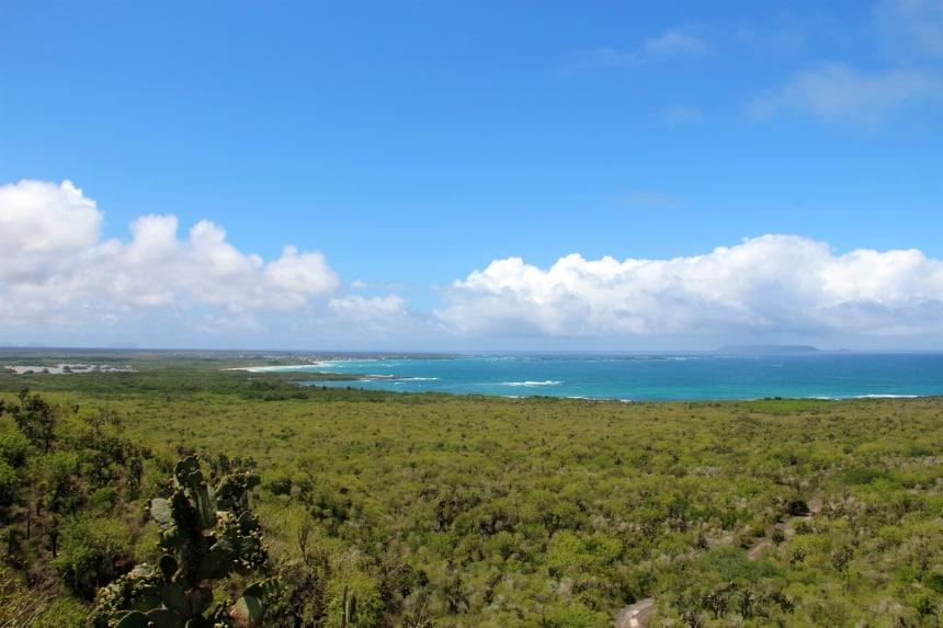 Het uitzicht over Isla Isabela