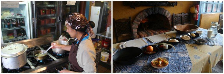 De Ecuadoriaanse Eugenia geeft ons een kookcursus met lokale specialiteiten
