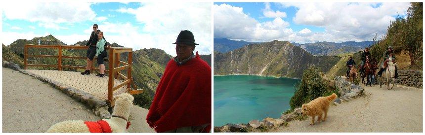 Het Quilotoameer heeft een van de mooiste uitzichten van Ecuador