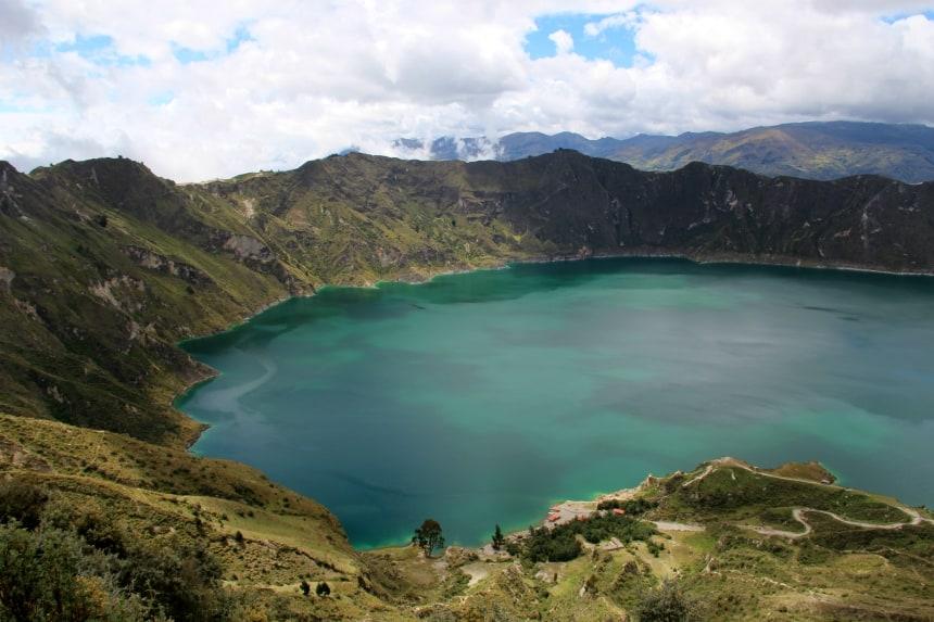Het Quilotoameer is een van de mooiste plekken van Ecuador