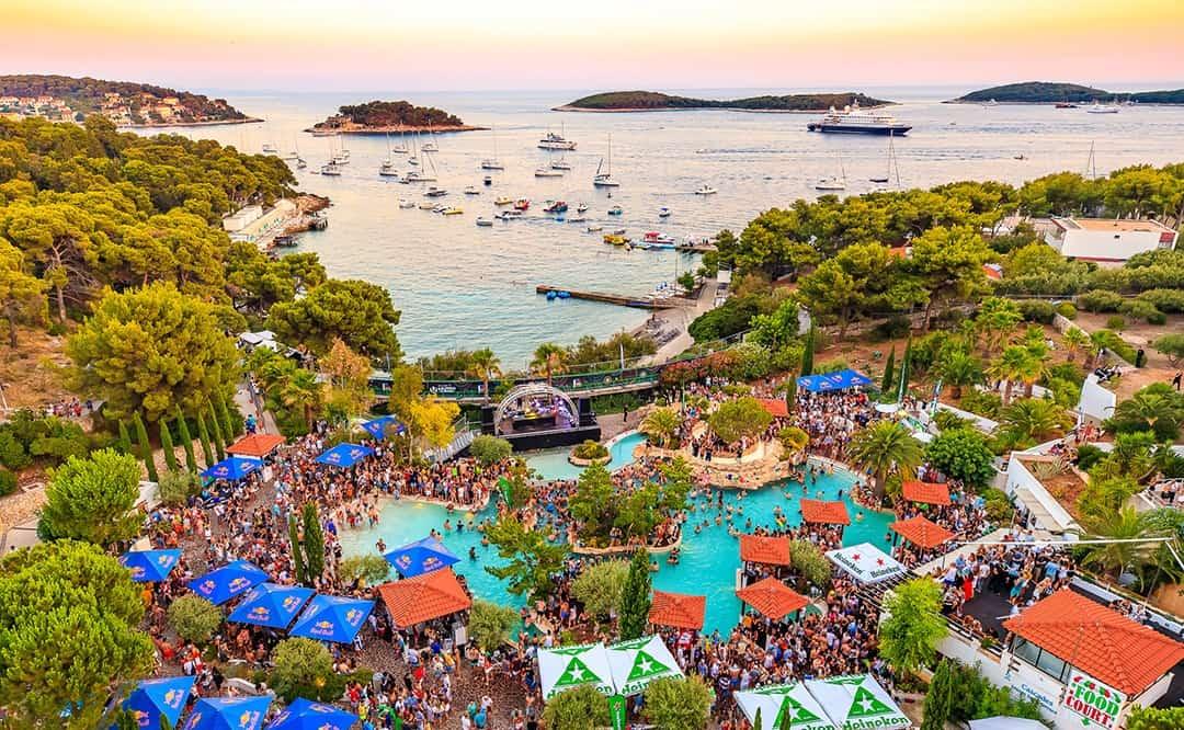 Ultra festival strand Kroatie