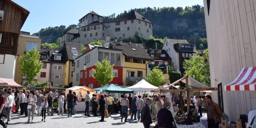 Kasteel Schattenburg in Feldkirch, Oostenrijk