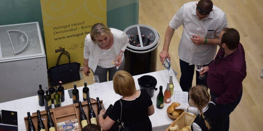 Wijnmakers op de Vinobile in Feldkirch, Oostenrijk