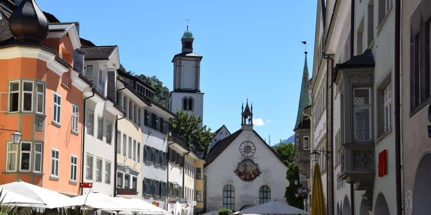 Oude centrum van Feldkirch, Oostenrijk