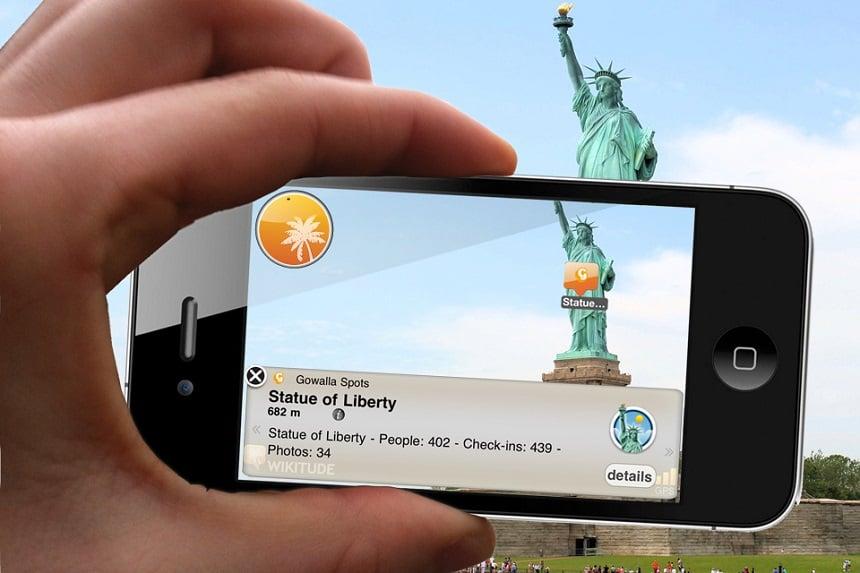 Wikitude app voor op reis