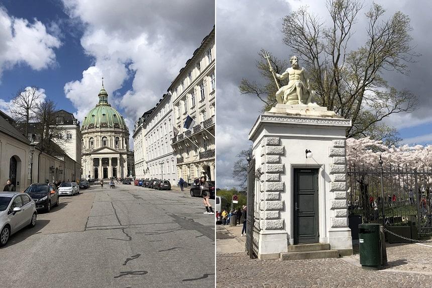 Paleis Amalienborg is de winterresidentie van de Deense koninklijke familie