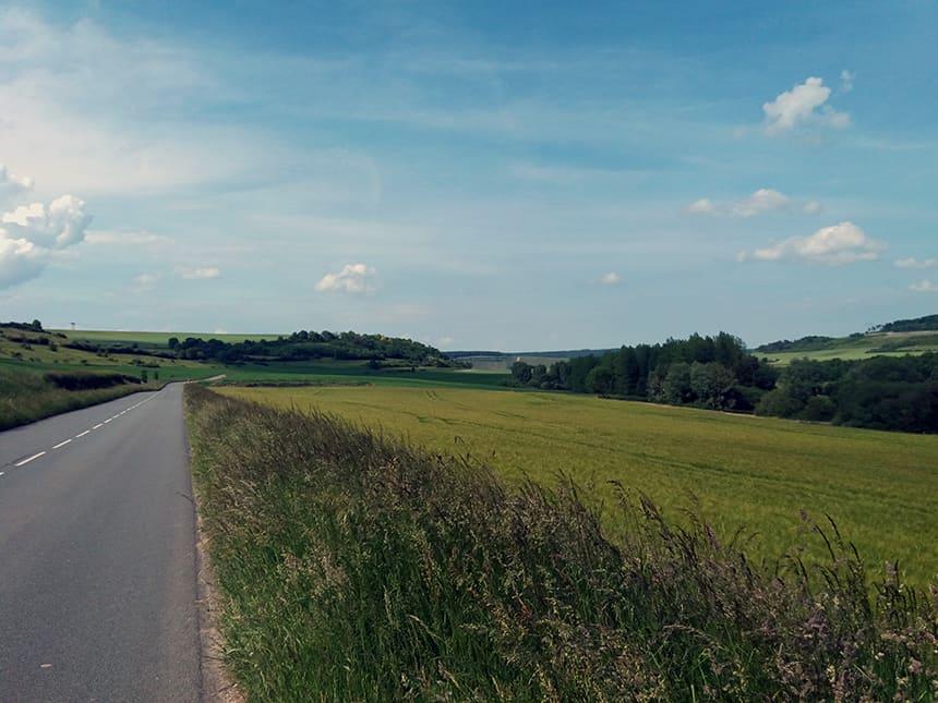 Landschap in Frankrijk
