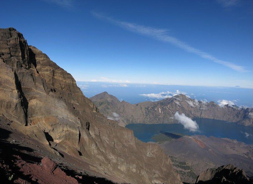 Rinjani vulkaan op Lombok in Indonesië