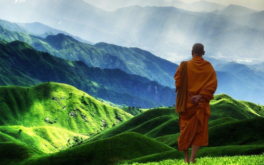 Monnik in Tibet