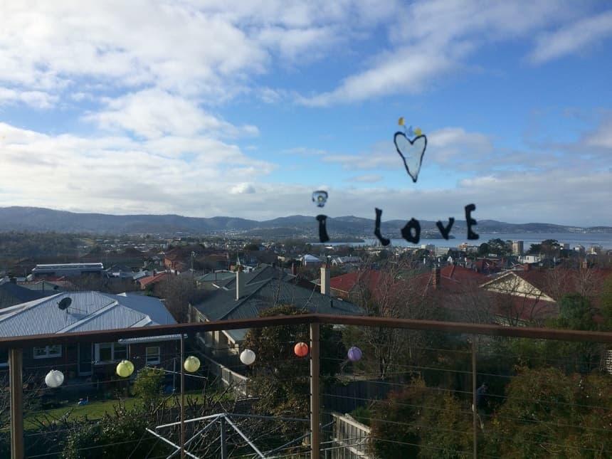 Uitzicht over Hobart