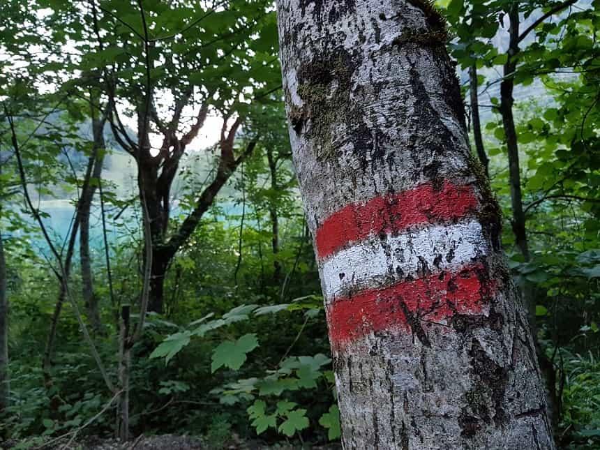 De Oostenrijkse vlag als wegwijzer