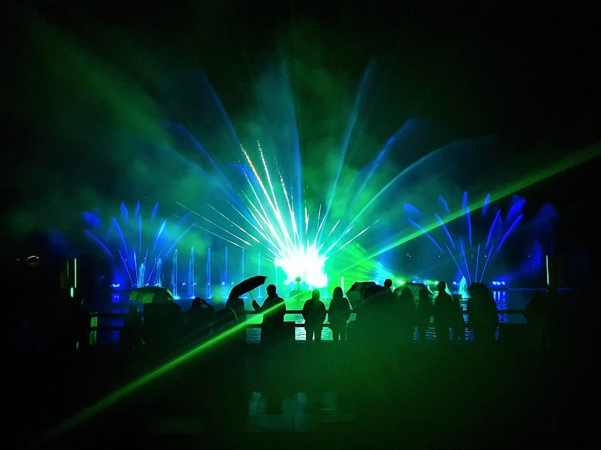 Zell am See's Magic Lake Show - water, licht, muziek en laser