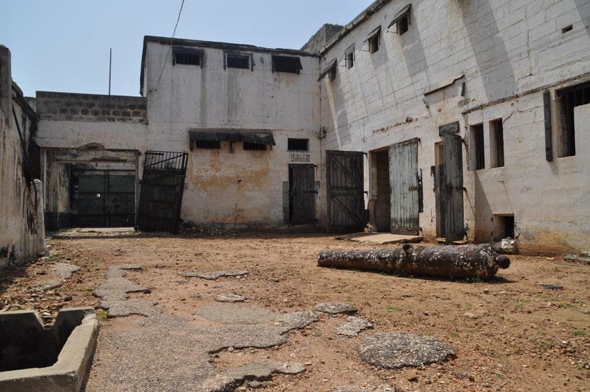 Het verlaten Fort Ussher (Fort Crevecoeur).