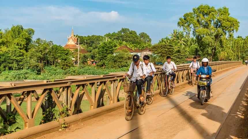 Langs de Mekong in Cambodja