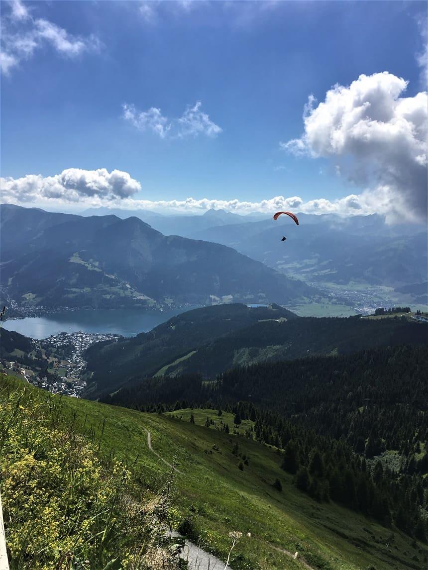 Paragliden in de zomer in Zell am See-Kaprun