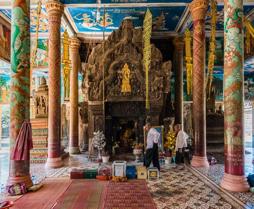 Interieur van Wat Nokor