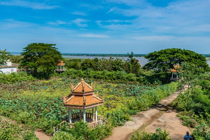 Landschapstuin bij Wat Hanchey
