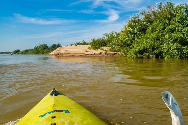 Kanoën op de Mekong