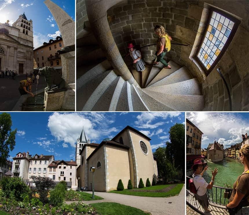 De oude binnenstad van Annecy is erg fotogeniek