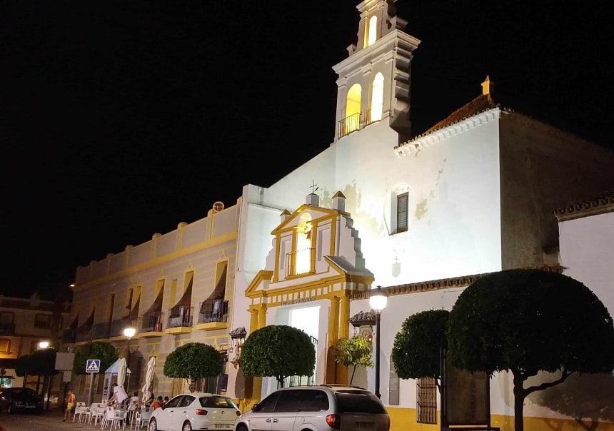 Eén van de kerken in Ayamonte