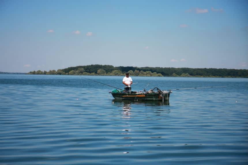 Visser op Lac du Der Frankrijk