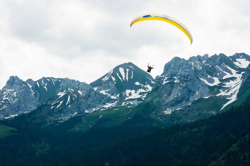 Paragliden in de Franse Alpen