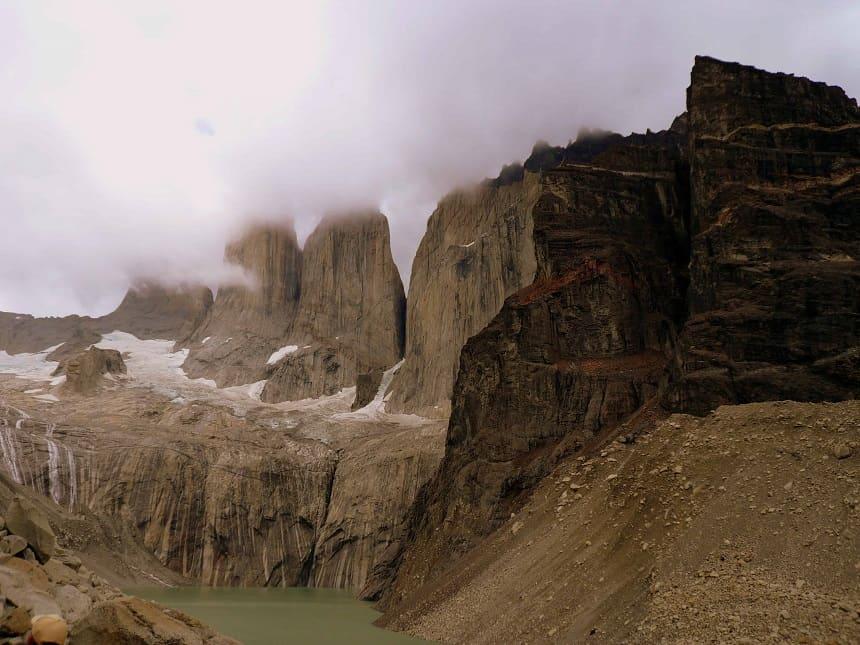 Eindpunt wandeltocht Torres del Paine