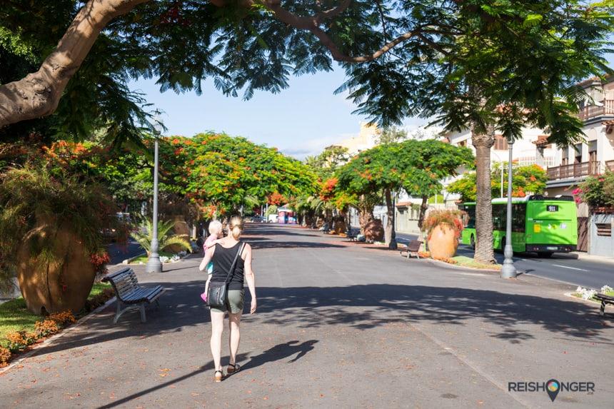 Kilometerslange boulevard dwars door Santa Cruz