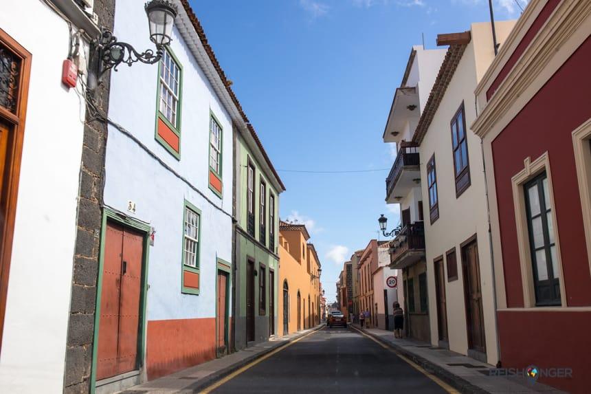 Kleurrijke smalle straatjes in San Cristóbal de La Laguna
