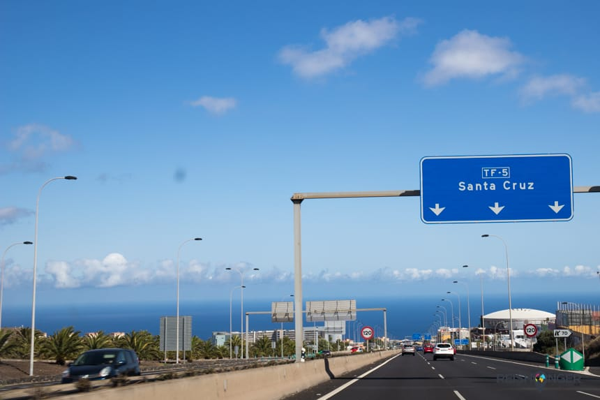 Snelweg naar Santa Cruz de Tenerife