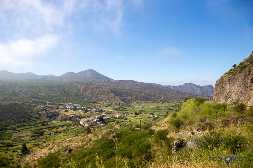 genieten van het uitzicht op Tenerife
