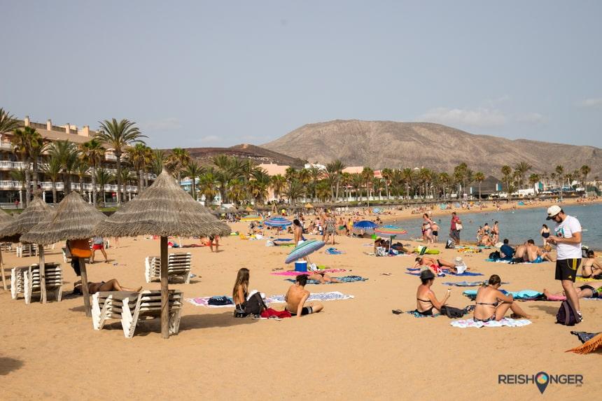 Playa de Las Americas is één van de meest populaire stranden op Tenerife