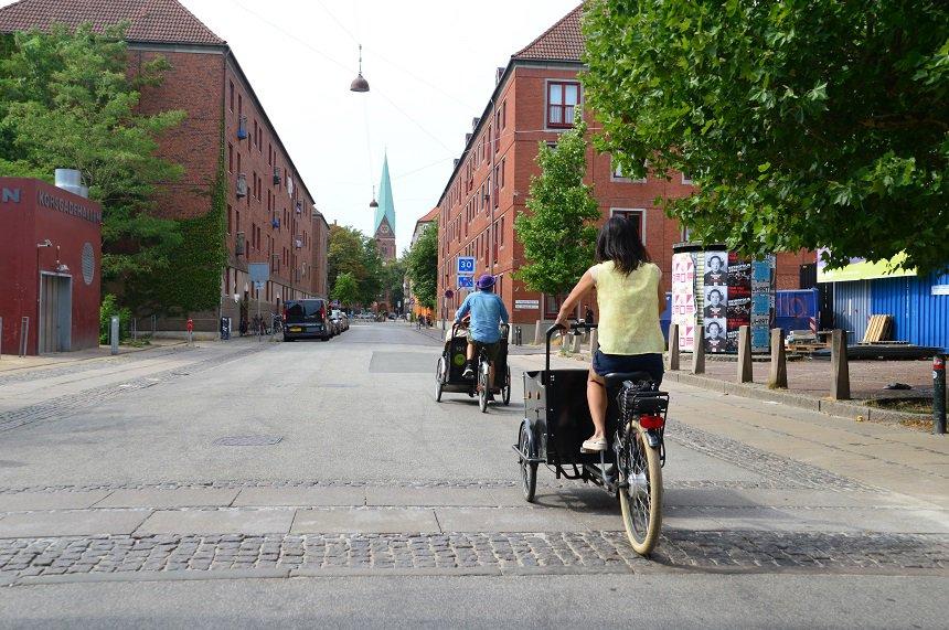 Met een bakfiets door de minder bekende delen van Kopenhagen