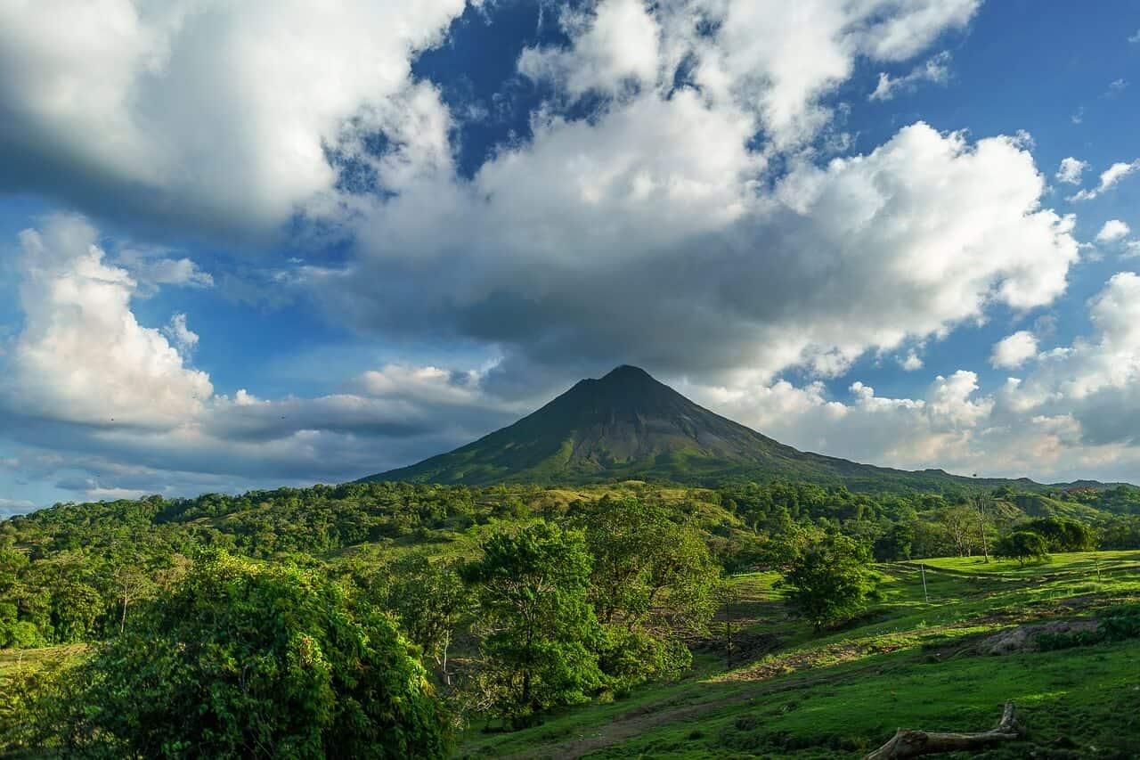 De Arenal vulkaan in Costa Rica