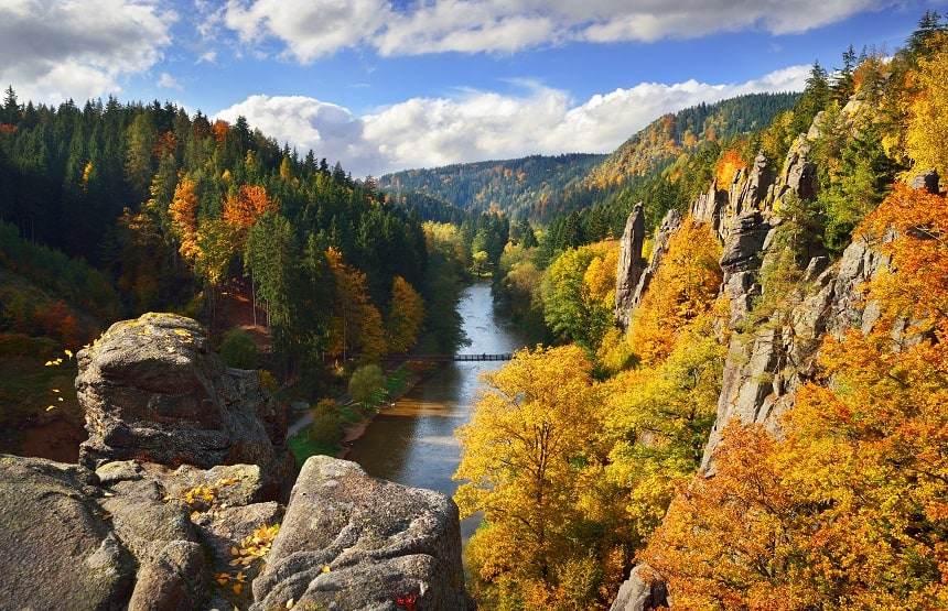 Burgenstrasse in Tsjechie