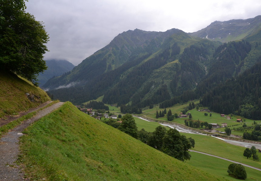 De vallei Monbiel, bij Klosters: een ideaal wandelterrein