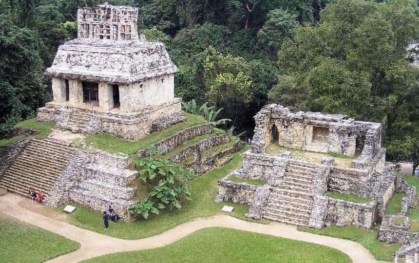 De Maya ruïnes van Palenque