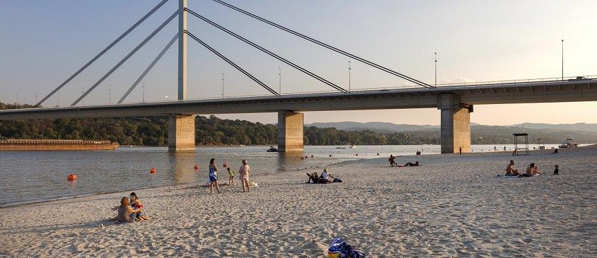 Strand van Novi Sad
